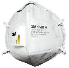 3M 3M™ 9501V KN95 折叠式带阀亚博yabo官方口罩(耳带款)