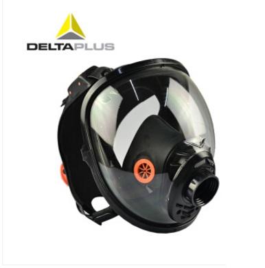 代尔塔 105007 防毒面具 呼吸 全面罩 全面屏 防毒面具 黑色