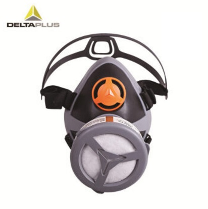 代尔塔 防毒面具半面罩 喷漆打农药烧电焊用口罩 防有机气体二硫化碳等 可选配滤盒 套装4:综合防毒5合1(喷漆装修打农药)