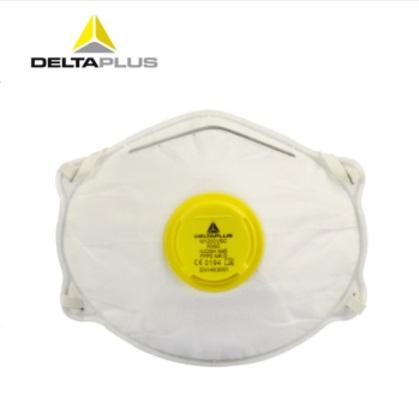 代尔塔 防雾霾防粉尘口罩 FFP2N95工业防尘PM2.5 带呼吸阀