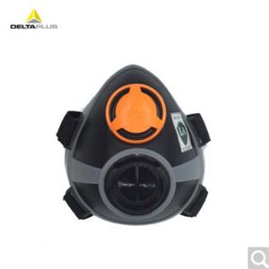 代尔塔 防毒面具半面罩 喷漆打农药烧电焊用口罩 防有机气体二硫化碳等 可选配滤盒 单孔面罩