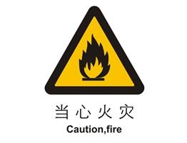 警示类标示 当心火灾