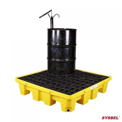 盛漏托盘|聚乙烯防泄漏托盘(四桶型)