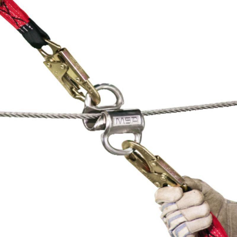 梅思安 智巧星双人水平生命线系统 9米编织绳