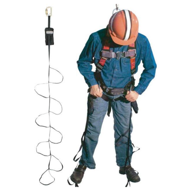 梅思安10063431自救踏步带 黑色 可收放织环带(带连接锁